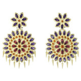 "Large ""Appliqué"" Gem-Set Drop Earrings"