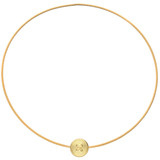 "​""Wire"" 18k Gold Button Choker Necklace"