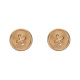 20k Pink Gold Button Stud Earrings