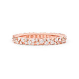 "Extra Small 18k Rose Gold & Diamond ""Confetti"" Band Ring"