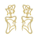 "18k Gold ""Diamond Nouveau"" Drop Earrings"