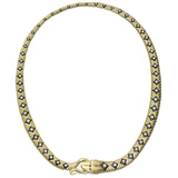 """Diamondback"" 18k Gold & Diamond Necklace"