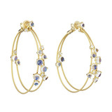 Double Wire Bubble Hoop Earrings