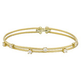 """Wire"" 18k Gold & Diamond Double Bracelet"