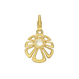 18k Gold &amp; Lemon Citrine Flower Charm