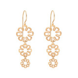 "​18k Pink Gold ""Flower Power"" Drop Earrings"