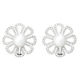 """Flower Power"" Pearl & Diamond Earrings"