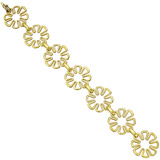 "Small 18k Yellow Gold ""Flower Power"" Link Bracelet"