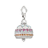 Medium Silver & Gemstone Meditation Bell