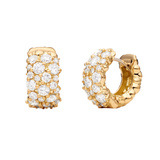 "Large 18k Yellow Gold & Diamond ""Confetti"" Snap Hoops"