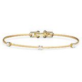 "Large 18k Yellow Gold & Diamond ""Unity"" Bracelet"
