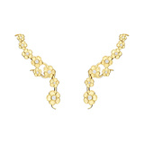 18k Gold & Diamond Hydrangea Trellis Drop Earrings