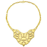 "18k Yellow Gold ""Tribal"" Bib Necklace"