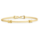 "​18k Yellow Gold ""Unity"" Criss Cross Double Bracelet"