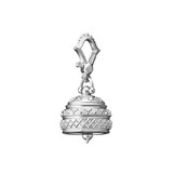 Medium Sterling Silver Granulated Meditation Bell Pendant