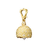 "​Medium 18k Gold & Diamond ""Hydrangea"" Meditation Bell"