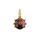 18k Gold &amp; Agate Ladybug Charm