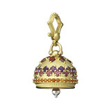 Large Gem-Set Meditation Bell Pendant