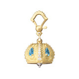"Medium 18k Gold & Gemstone ""Raja"" Meditation Bell"