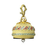 Extra Large 18k Gold & Gemstone Meditation Bell