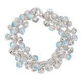 Silver Bell Bracelet with Blue Topaz