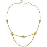 18k Gold Meditation Bell Choker Necklace