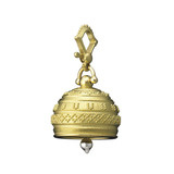 Large 18k Gold Granulated Meditation Bell