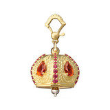 "​Large ""Raja"" 18k Gold & Gemstone Meditation Bell"
