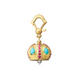 "Extra Small ""Raja"" 18k Gold & Gemstone Meditation Bell"