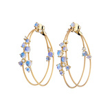 "Moonstone Double ""Unity"" Bubble Hoop Earrings"