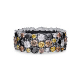 "Large Multicolored Diamond ""Confetti"" Band Ring"