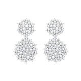 "​Pearl & Diamond ""Lagrange"" Double Dangle Earrings"