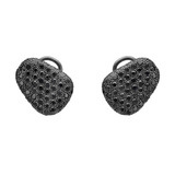 """Pebble"" Pavé Black Diamond Earrings"