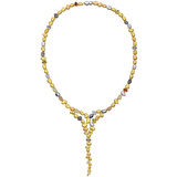 "​18k Gold & Gem-Set ""Pebble"" Waterfall Necklace"