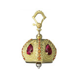 Extra Large &quot;Raja&quot; Gem-Set Meditation Bell Pendant
