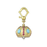 "Medium ""Raja"" Gem-Set Meditation Bell Pendant"