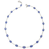 Sapphire &amp; Diamond Briolette Necklace