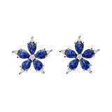 "Small Sapphire & Diamond ""Stellanise"" Earrings"