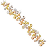 "18k Gold, Pearl & Diamond ""Shell"" Bracelet"
