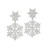 """Snowfall"" Diamond Double Drop Earrings"