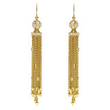 18k Gold & Diamond Tassel Earrings