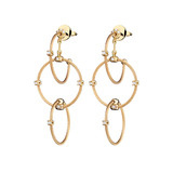 "Medium 18k Yellow Gold ""Unity"" Rain Chain Earrings"