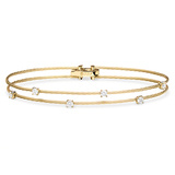 "Medium 18k Yellow Gold & Diamond ""Unity"" Double Bracelet"