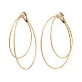 "​18k Yellow Gold & Diamond Double ""Unity"" Hoop Earrings"