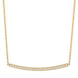 18k Gold & Pavé Diamond Bar Pendant