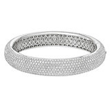 Pavé Diamond Bombé Cuff (~18 ct tw)