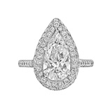 1.82 Carat Pear Brilliant-Cut Diamond Ring