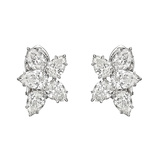 ​Pear-Shaped Diamond Cluster Earclips (~7.30 ct tw)