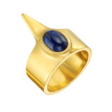 """22k Gold & Sapphire """"Crow"""" Ring"""