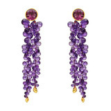Amethyst & Pink Tourmaline Tassel Earrings